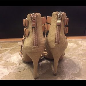 Sole Society Shoes - Sole Society Tan Strappy Heel